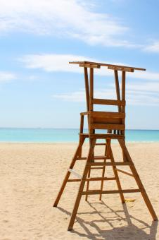 Free Stock Photo of Lifeguard's chair
