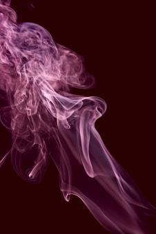Free Stock Photo of Purple Abstract Smoke on Black