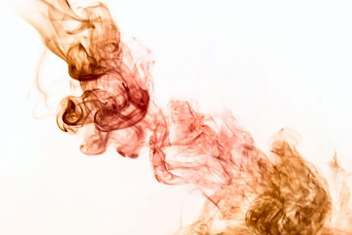 Free Stock Photo of Swirly Red Smoke on White