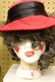 Free Stock Photo of Mannequin in red hat