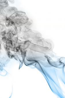 Free Stock Photo of Abstract Swirly Gray and Blue Smoke