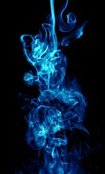 Free Stock Photo of Abstract Blue Smoke on Black