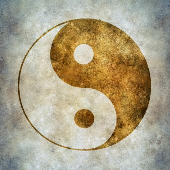 Free Stock Photo of yin yang