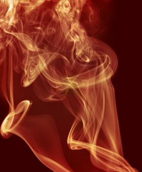 Free Stock Photo of Soft Red Smoke Swirl