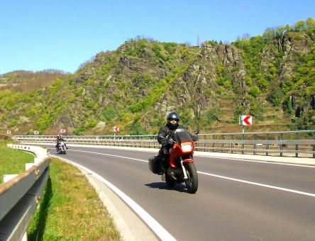 Free Stock Photo of Motorcycle Touring in the Rhineland