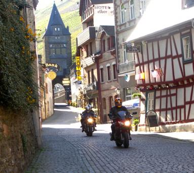 Free Stock Photo of Riding Through the German town of Bachar