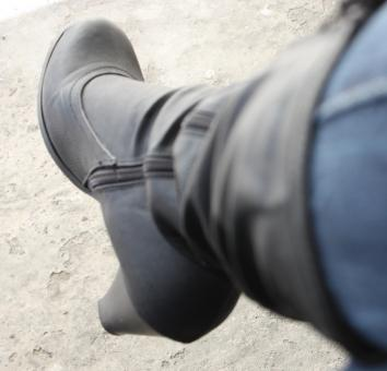 Free Stock Photo of Black shoe