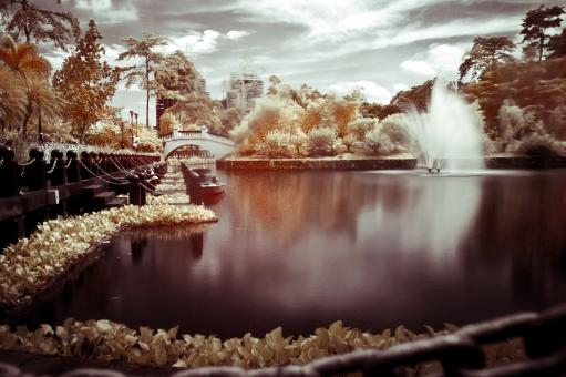 Free Stock Photo of Infrared lake