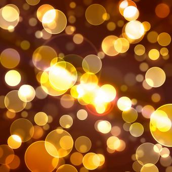 Free Stock Photo of Yellow Bokeh Background