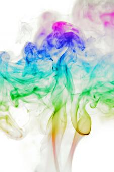 Free Stock Photo of Abstract Multicolored Smoke Background
