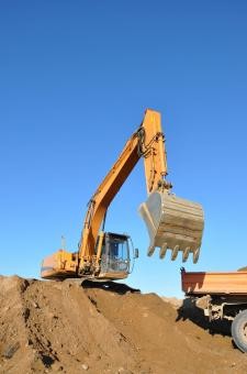Free Stock Photo of Excavator on worksite