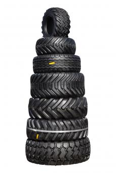 Free Stock Photo of Pile of tractor tyres