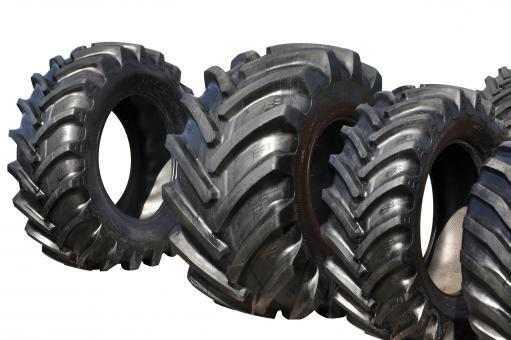 Free Stock Photo of Tractor tyres