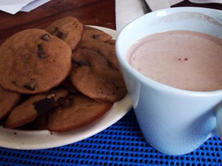 Free Stock Photo of Hot chocolate and cookies