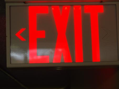 Free Stock Photo of Exit sign