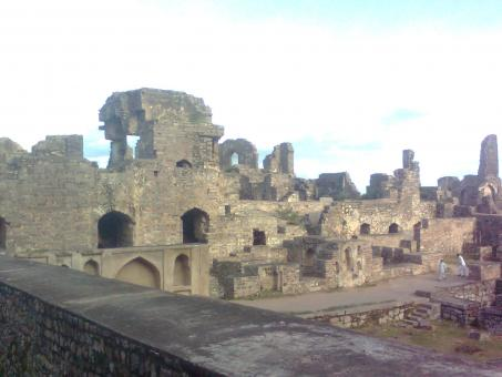 Free Stock Photo of Part of Golconda Fort