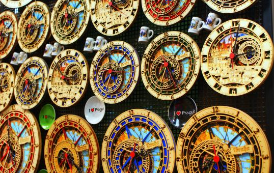 Free Stock Photo of Prague Clocks