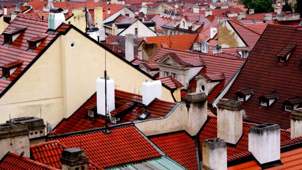 Free Stock Photo of Prague Roofs