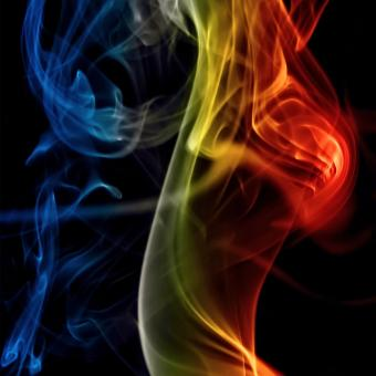Free Stock Photo of Multicolor Smoke Background