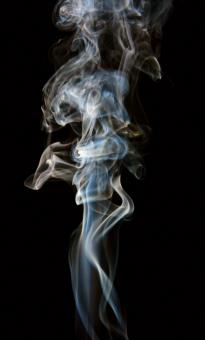 Free Stock Photo of Long Swirly Smoke on Black