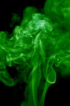Free Stock Photo of Green Swirly Smoke