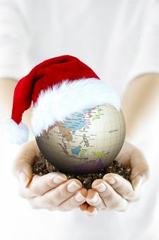 Free Stock Photo of Christmas Globe