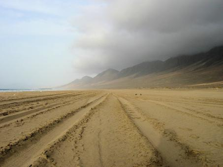 Free Stock Photo of Huge Cofete Beach in Fuerteventura