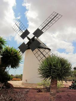 Free Stock Photo of Traditional Windmill in Fuerteventura