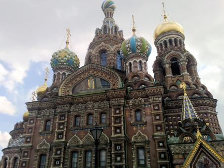 Free Stock Photo of Church of the Savior on blood