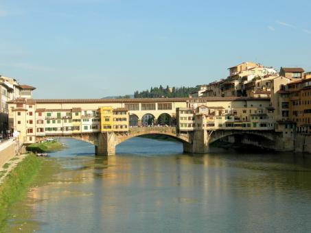 Free Stock Photo of Vecchio Bridge in Florence, Italy