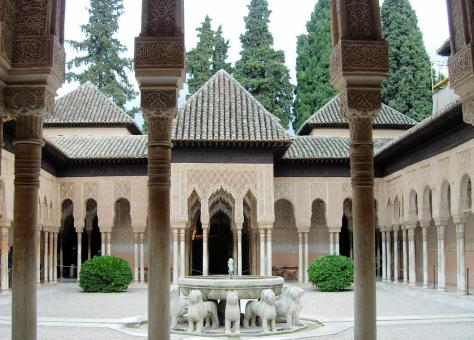 Free Stock Photo of Court of the Lions. Alhambra de Granada