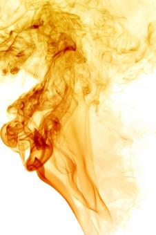 Free Stock Photo of Yellow Smoke Swirl