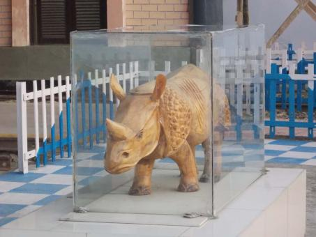 Free Stock Photo of Rhino Statue