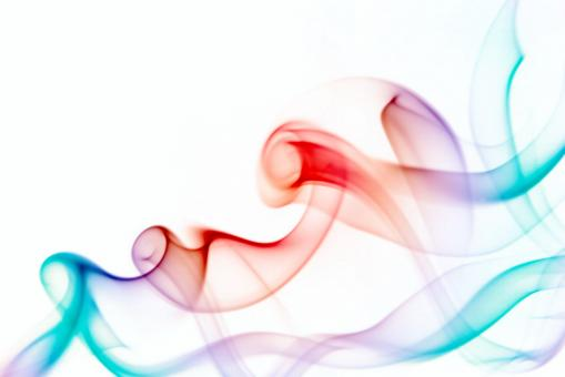 Free Stock Photo of Swirly Abstract Smoke in Multicolor
