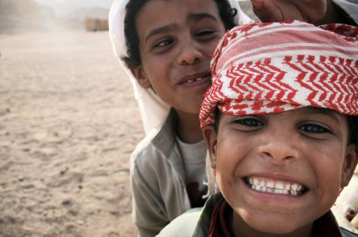 Free Stock Photo of Bedouin boys in Egypt