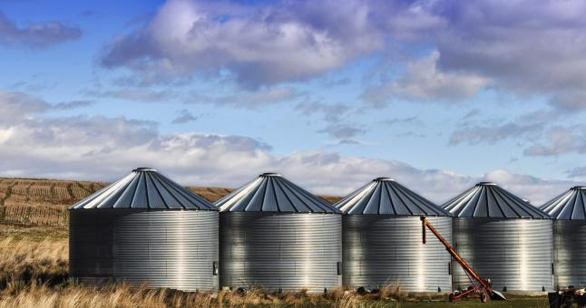 Free Stock Photo of Silos