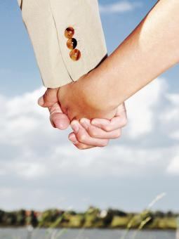 Free Stock Photo of Man and woman holding hands