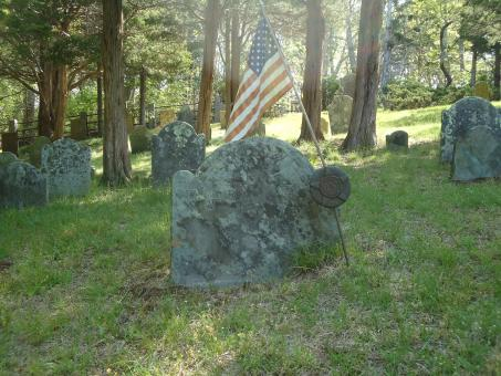 Free Stock Photo of Gravestone Headstone Flag