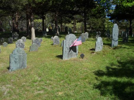 Free Stock Photo of Headstone with Flag