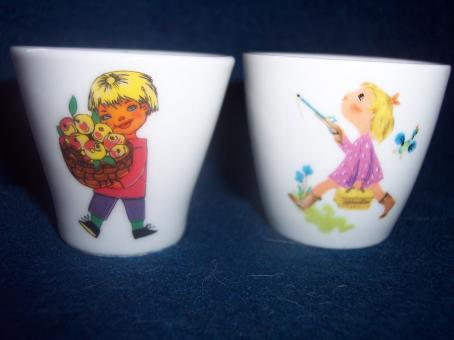 Free Stock Photo of Two egg cups