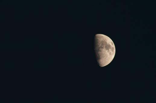 Free Stock Photo of Half moon