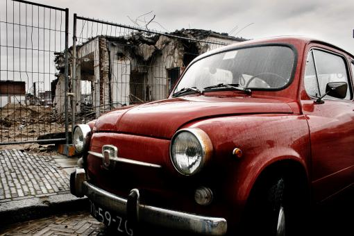 Free Stock Photo of Fiat mini classic car