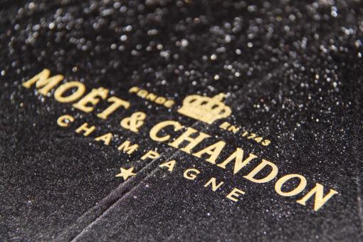 Free Stock Photo of Moet &Chandon under the rain