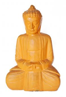 Free Stock Photo of Yellow buddha statue