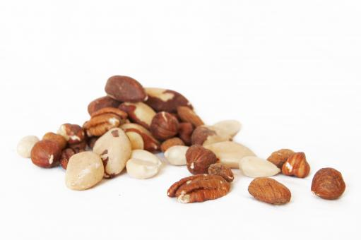 Free Stock Photo of mixed nuts
