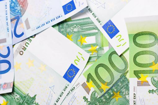 Free Stock Photo of Euro bills