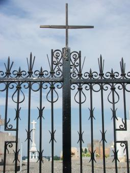 Free Stock Photo of Cemetery gate