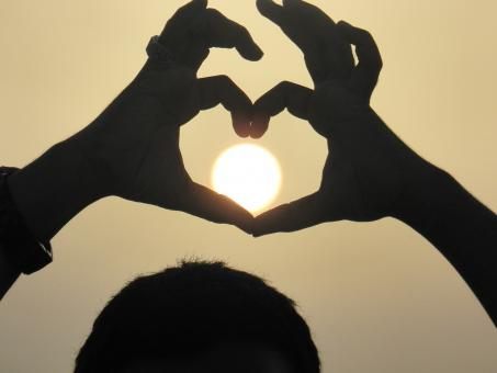 Free Stock Photo of Sun of love
