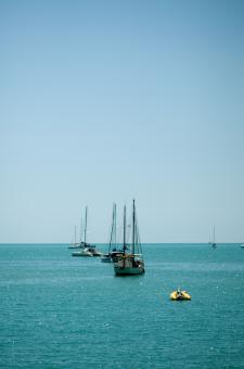 Free Stock Photo of Boats in the sea