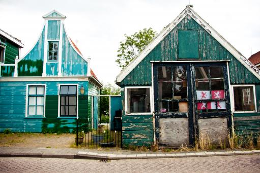 Free Stock Photo of dutch houses